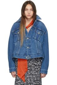 Balenciaga Blue Denim Swing Jacket