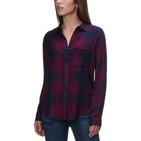 Rails Hunter Currant/Navy Long-Sleeve Button Up -