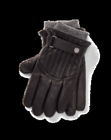 Quilted Leather Racing Gloves