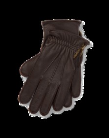 Side-Zip Deerskin Gloves