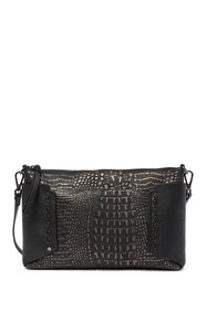 Kooba Copland Croc Embossed Leather Crossbody Clut