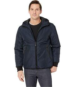 Kenneth Cole New York Poly Oxford Hooded Puffer