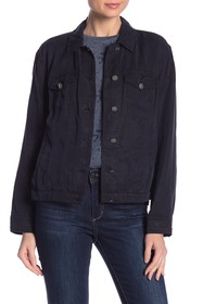 Vince Camuto Solid Button Down Jacket