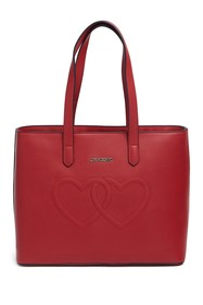 LOVE Moschino Embossed Hearts Leather Bag