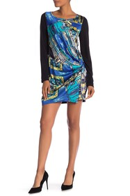 Papillon Contrast Pattern Front Dress