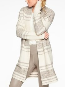 Wool Cashmere Panorama Point Sweater Wrap