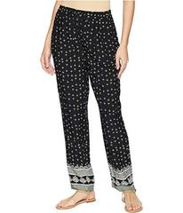 TWO by Vince Camuto Fan Geo Tie Waist Printed Pull