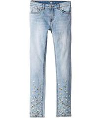 7 For All Mankind Skinny Stretch Denim Jeans in Tr