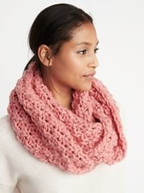 Textured Basket-Weave Infinity Scarf for Women