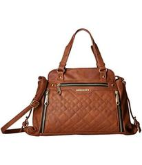 Rampage Quilted Mixed Pattern Satchel