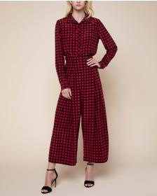 Juicy Couture Check Silk Crop Pant