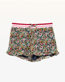 Juicy Couture Floral Frenzy Georgette Ruffle Short