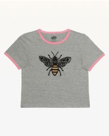 Juicy Couture Mind Your Own Beesness Ringer Tee fo