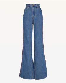 Juicy Couture Multicolor Embroidered Denim Flare L