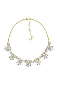 Marchesa Crystal Cluster Statement Necklace