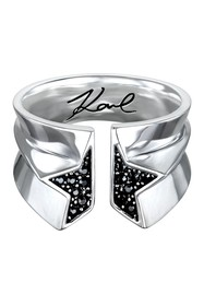 Karl Lagerfeld Pave Sliced Star Ring - Size 6