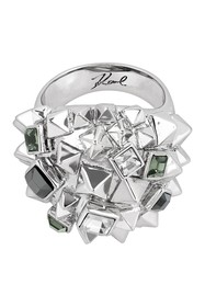 Karl Lagerfeld Pyramid Cluster Ring - Size 6