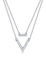 LaFonn Platinum Over Sterling Silver Simulated Dia
