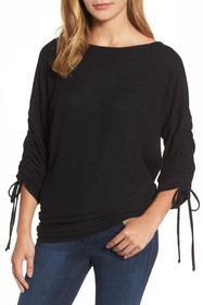 Gibson Cozy Tie Sleeve Top (Regular & Petite)