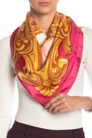 LOVE Moschino Toy Bear Silk Square Scarf
