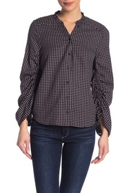 PAIGE Torin Plaid Button Front Blouse