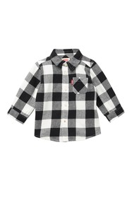 Levi's Long Sleeve One Pocket Checked Plaid Shirt