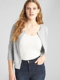 Open-Front Cardigan Sweater in Cashmere