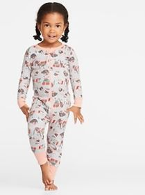 Holiday-Print One-Piece Sleeper for Toddler & Baby