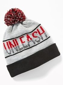 Sweater-Knit Pom-Pom Beanie for Boys