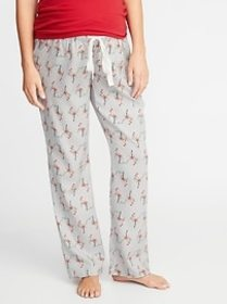 Maternity Printed Flannel Sleep Pants