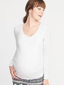 Maternity Thermal-Knit V-Neck Tee