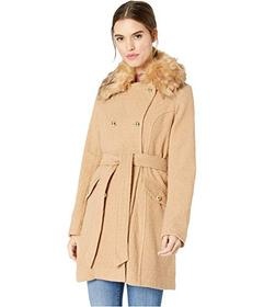 Jessica Simpson Wool Coat w\u002F Faux Fur