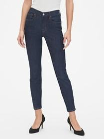 Mid Rise True Skinny Jeans with Gap-Exclusive Stre