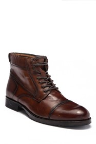 Kenneth Cole Reaction Brewster Leather Lace-Up Boo