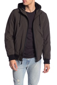 Levi's Faux Shearling Hooded Bomber