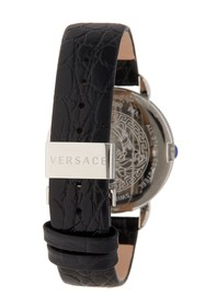 Versace Krios 47mm Leather Strap Watch