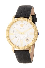 Versace Krios 38mm Leather Strap Watch