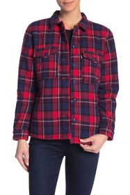 Levi's Faux Shearling Lined Plaid Jacket