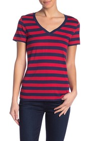 Levi's Essential Striped V-Neck Tee