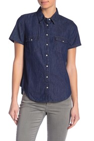 Levi's Larissa Short Sleeve Western Button Down Sh