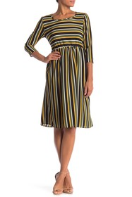 Paolino Stripe Back Tie Dress