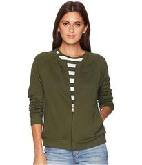 LAUREN Ralph Lauren French Terry Mock Neck Jacket