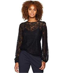MICHAEL Michael Kors Lace Waist Long Sleeve Top