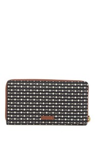 Fossil Printed Leather Zip Wallet