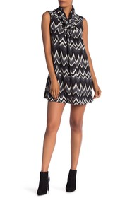 Papillon Cap Sleeve Patterned Dress