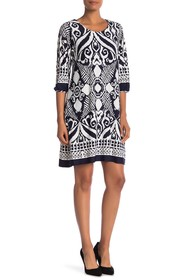 Papillon Contrast Pattern Dress