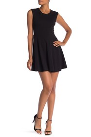Papillon Basic Sleeveless Fit-And-Flare Dress