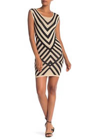 Papillon Stripe Knit Dress