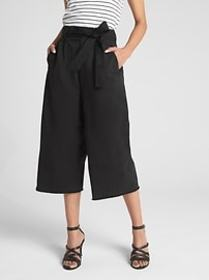 Wearlight Crop Tie-Waist Wide-Leg Chinos