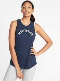 Graphic Performance Muscle Tank for Women